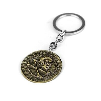 Uncharted Ps4 A Thief's End Pirate Sigil Skull Coin Keychain • 5£