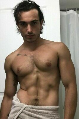 $ CDN4.66 • Buy Shirtless Male Beefcake Hairy Chest Muscular Man Hunk Jock Dude PHOTO 4X6 G859