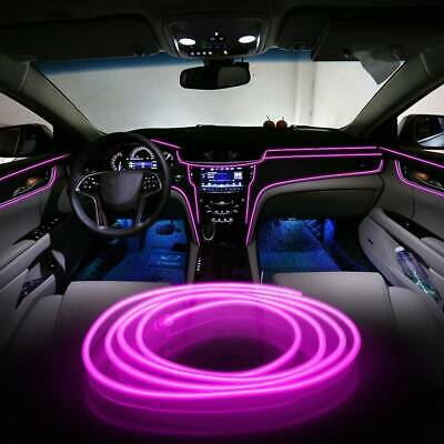 AU7.17 • Buy 6.5FT LED Car Interior Decor Atmosphere Wire Strip Pink Light Lamps Accessories