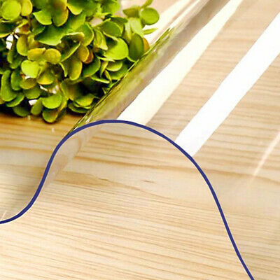 AU21.24 • Buy Rectangle Home Office Solid Practical Hotel PVC Transparent Chair Mat For Carpet