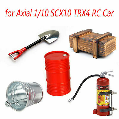 1Set Wooden Box Oil Drum Fire Extinguisher For Axial 1/10 SCX10 TRX4 RC Crawler • 13.99£