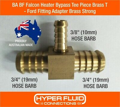 AU20.99 • Buy BA BF Falcon Heater Bypass Tee Piece Brass T - Ford Fitting Adapter Brass Strong