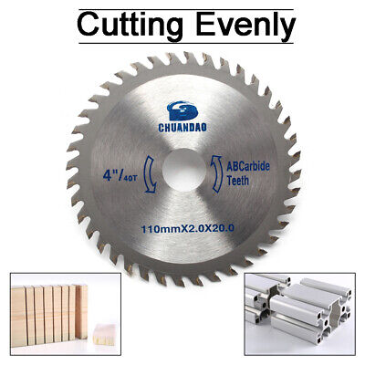 £4.22 • Buy 4  Circular Saw Blade Disc Wood Cutting 110mm 40Teeth Fits For Angle Grinder TCT