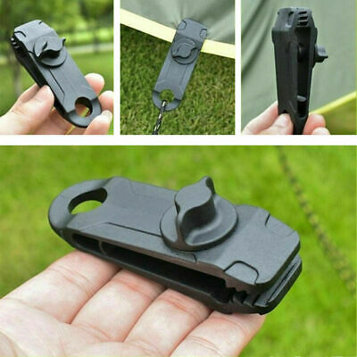 1/5/10x Reusable Tent Tarp Tarpaulin Clip Clamp Buckle Camping Tool Heavy Duty • 8.09£