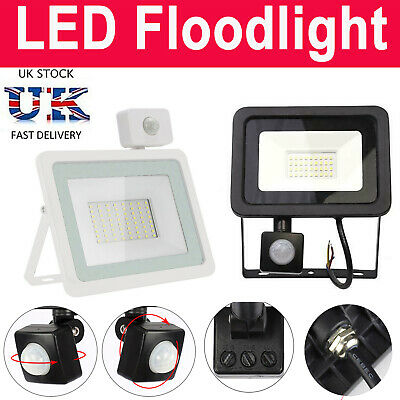 PIR Motion Sensor LED Flood Light Security Lamp Spotlight Garden Wall Street • 12.60£