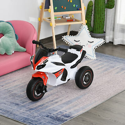 HOMCOM Kids Ride-On Police Bike 3-Wheel Vehicle W/ Music Lights 18-36 Mths • 35.99£