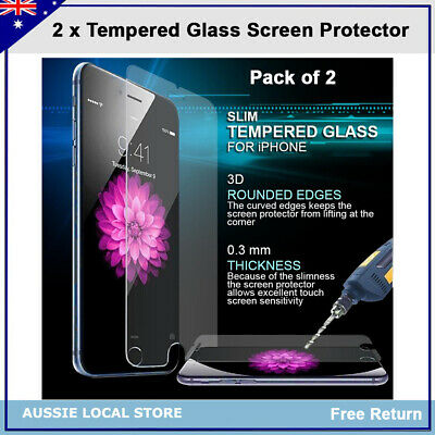 AU2.49 • Buy 2 X Tempered Glass Screen Protector For IPhone 6 6S 7 8 Plus (Non-full Screen)