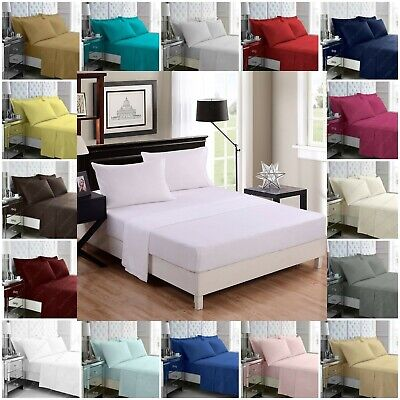 Extra Deep Fitted Sheet 16  Drop 40cm 100% Egyptian Cotton 200 Thread Count • 3.20£