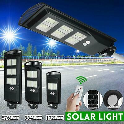 250W 576 LED Wall Street Light Solar Panel Outdoor Garden Lamp+Remote Control • 69.99£