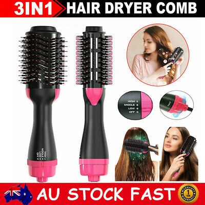 AU28.39 • Buy 4-in-1 One Step Hair Dryer Volumizer Pro Brush Air Curler Styler Straightener AU