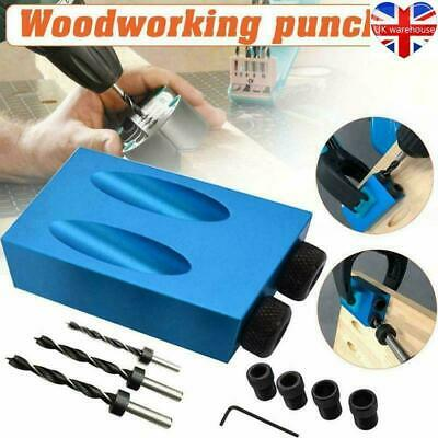 £6.99 • Buy 14Pcs 15° Guide Angle Drill Bit Locator Oblique Hole Positioner Woodworking Tool