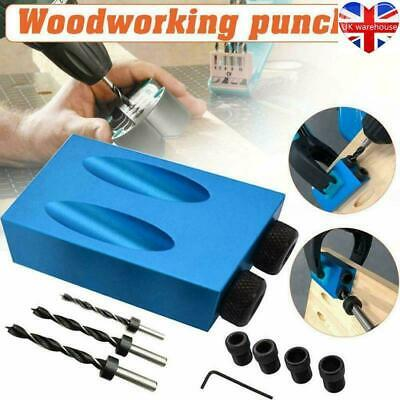 14Pcs 15° Guide Angle Drill Bit Locator Oblique Hole Positioner Woodworking Tool • 7.99£