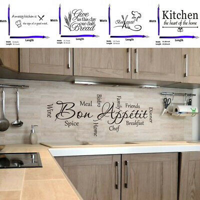 Quote Mural Words Art Vinyl Wall Sticker Home Kitchen Room Decal Decoration DIY • 4.89£