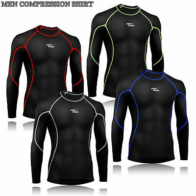 Mens Boys Body Armour Compression Baselayers Thermal Under Shirt Top Skins • 10.99£
