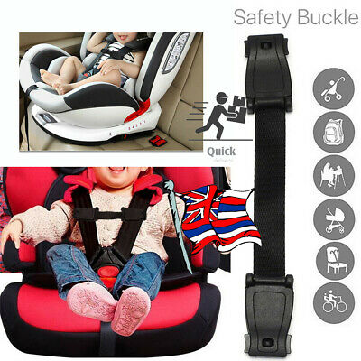 Car Safety Seat Strap Chest Clip Buggy Anti Escape Harness Lock Buckle Highchair • 5.25£
