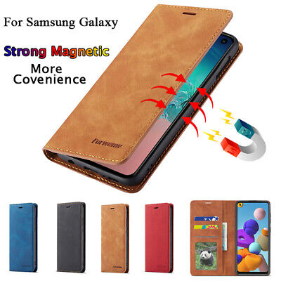 $ CDN6.93 • Buy For Samsung S21+ Ultra S20 S9 S8 Plus Phone Leather Flip Card Wallet Case Cover