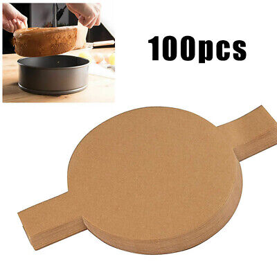 Parchment Paper Liners 100pcs Round 8 Inch Home Dining Bar Bakeware Ovenware • 13.06£