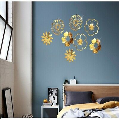 Decor Ornaments Wedding Birthday Home Hollow Flowers And Leaves Wall Sticker SU • 2.87£