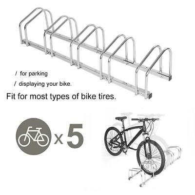 AU233.27 • Buy 5 Racks Steel Bike Bicycle Floor Parking Stand Storage Rack
