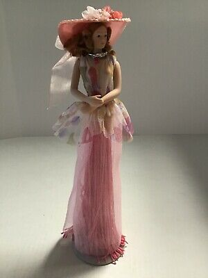 $ CDN32.65 • Buy 2004 Popular Creations Victorian Pink Tassel Doll Body Porcelain W/Stand