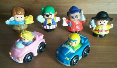 Fisher Price Mattel Little People And Toy Car Bundle - Little People Toy Figures • 1.50£