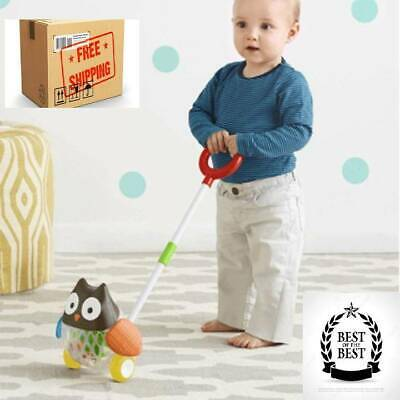 Cute Animal Kid Learn Walking Waddling Push Along Toy For Babies Toddlers NEW • 24.75£