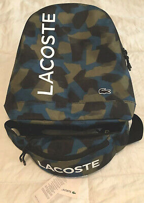 £119.81 • Buy Lacoste Camo Backpack And Waist Bag Combo - Lot Of 2 - NWT - Blue Camo Men's