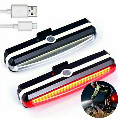 LED Mountain Bike Bicycle Front + Rear Lights Set USB Rechargeable Waterproof UK • 9.98£