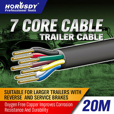 AU30.39 • Buy 20M X 7 Core Wire Cable Trailer Cable Automotive Boat Caravan Truck Coil V90 PVC