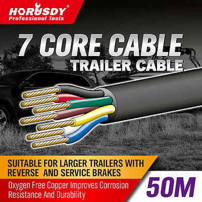 AU73.58 • Buy 50M X 7 Core Wire Cable Trailer Cable Automotive Boat Caravan Truck Coil V90 PVC