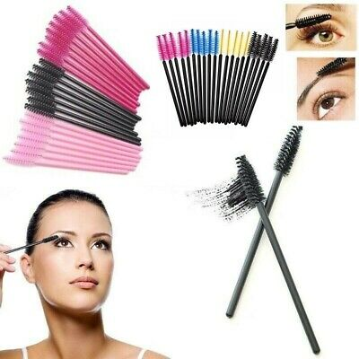 Disposable Eyelash Brush Mascara Wands Eyebrow Spoolie Brush Cosmetic Brush Kit • 3.79£