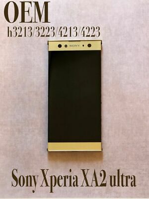 $ CDN109.93 • Buy Sony Xperia XA2 Ultra LCD Touchscreen With Frame H3213/3223/4213/4223 OEM Gold