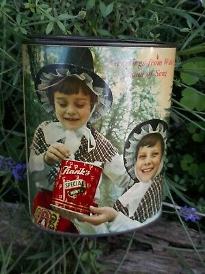 Vintage Frank's Of Cardiff Empty Welsh/English Sweet Tin • 7.50£