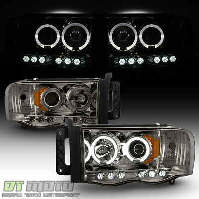 $125.99 • Buy [6LEDs] Smoke 2002-2005 Dodge Ram 1500 03-05 2500 3500 Halo Projector Headlights