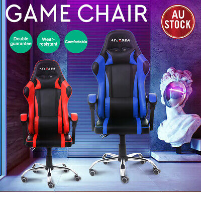 AU124.99 • Buy Gaming Chair Office Executive Computer Game Chairs Seating Racing Recliner