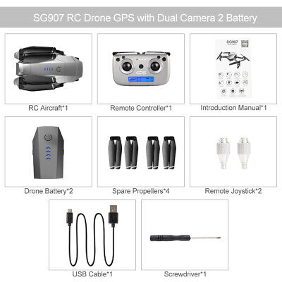 AU168.98 • Buy SG907 5G WIFI 1080P Drone With Dual Camera GPS Follow Me RC Quadcopter 2 Battery