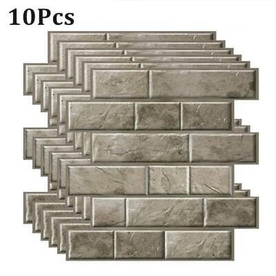 3D Self-Adhesive Kitchen Wall Tiles Bathroom Mosaic Brick Stickers Peel Stick~ • 17.39£
