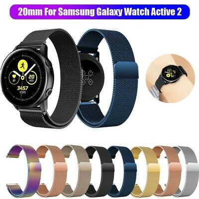 AU13.99 • Buy For Samsung Galaxy Watch Active 2/1 Magnetic Milanese Loop Wristwatch Band Strap