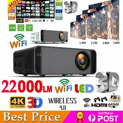 AU129.88 • Buy 22000 Lumens 1080P HD Android WiFi 3D Projector Home Theatre Video Cinema HDMI