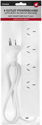 AU29.99 • Buy 4/6 Way Socket Outlet Surge Protector Power Board USB Port Cord