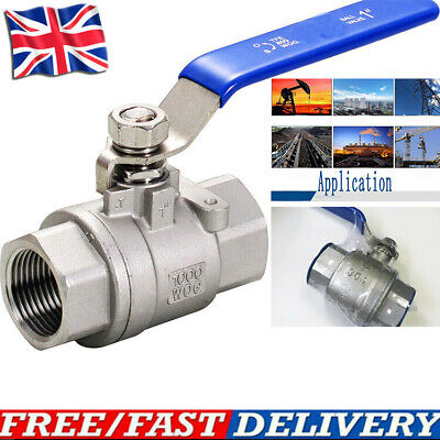 Blue Lever Arm Stainless Steel Tap Ball Valve 1/4  1/2  3/4  1  BSP • 8.59£
