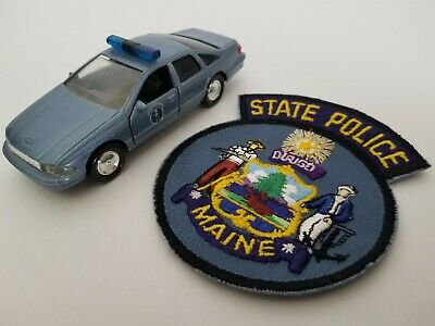 $39.95 • Buy 1:43 Diecast Police Cruiser And Agency Police Patch (Maine State Police)