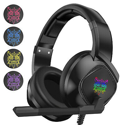 AU35 • Buy ONIKUMA K19 RGB Wired Stereo Gaming Headset For PS4/PC/Xbox One Controller/Lapto