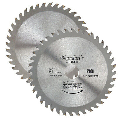 £5.41 • Buy 125mm 40T Mill Circular Saw Blade Disc Wood Cutting Fits For Angle Grinder TCT