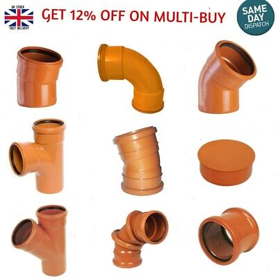 Underground Drainage 110mm, Soil Pipe & Fittings, Bends,Traps Top Quality • 4.79£