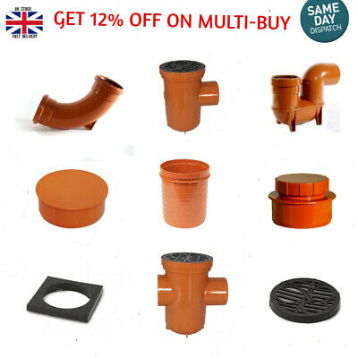 Underground Drainage 110mm, Soil Pipe & Fittings, Bends,Traps Brand New • 5.99£