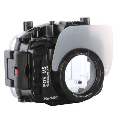 AU444.39 • Buy 40M Underwater Waterproof Housing For Canon EOS M5 Camera Diving Case Bag Cover
