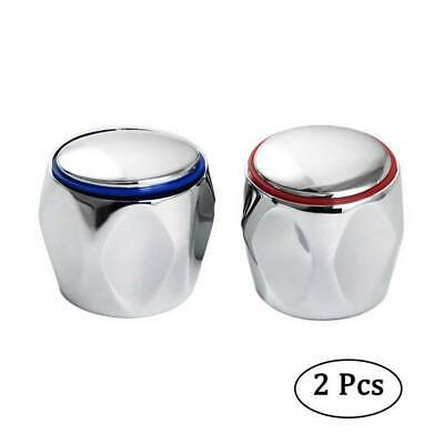 REPLACEMENT HOT & COLD TAP TOP HEAD COVERS CHROME PLATED Kitchen TAP TOP C • 2.98£
