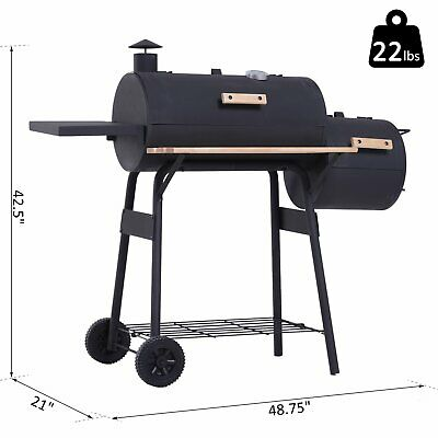 $ CDN267.64 • Buy Outsunny  48  Portable Steel Charcoal BBQ Grill - Black