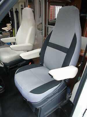 To Fit Fiat Ducato Motorhome, 2017 Model, Tall Pilot Seat Covers, Serena Mh-1006 • 129.99£